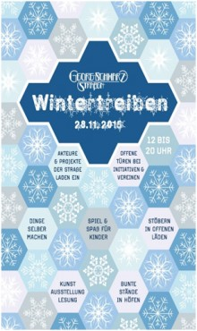 Erstes Wintertreiben in der Georg-Schwarz-Straße | Erstes Wintertreiben in der Georg-Schwarz-Straße