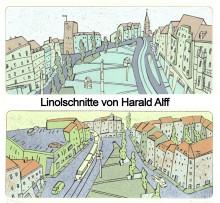 Linolschnitte Harald Alff: ein Geschenk an Leipzig | Linolschnitte Harald Alff: ein Geschenk an Leipzig