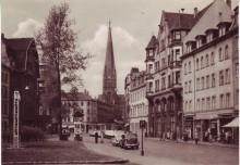Stadtführung am Sonntagnachmittag: Lindenau - Bildhauerviertel und Wächtergärten | Ansichtskarte vom Lindenauer Markt