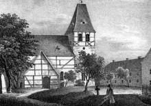 Dia-Vortrag Lindenauer Geschichte & Der Leipziger Westen | Dorfkirche von Lindenau um 1850