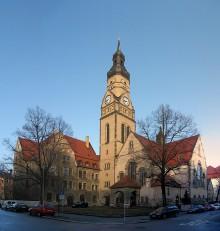 Tag der Architektur 2020 | Philippuskirche mit Inklusionshotel im ehem. Pfarrhaus. Foto: CC BY-SA 3.0, Lumu (talk)